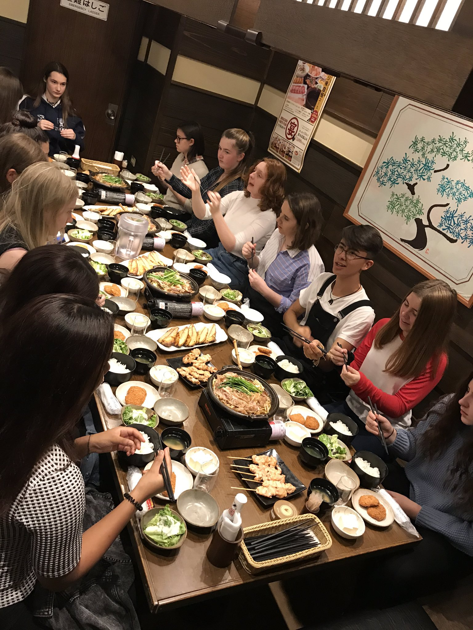 Park House School try traditional Japanese food