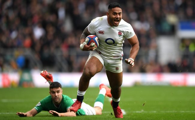 England v Ireland Tickets 2021 Six Nations LONDON, ENGLAND - FEBRUARY 23: Manu Tuilagi of England in action during the 2020 Guinness Six Nations match between England and Ireland at Twickenham Stadium on February 23, 2020 in London, England. (Photo by Shaun Botterill/Getty Images)