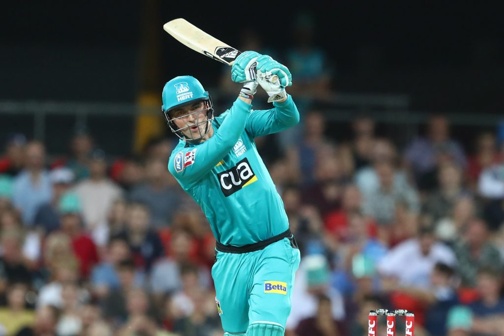 GOLD COAST, AUSTRALIA - DECEMBER 20: Tom Banton of the Heat bats during the Big Bash League Match between the Brisbane Heat and the Melbourne Stars at Metricon Stadium on December 20, 2019 in Gold Coast, Australia. (Photo by Chris Hyde/Getty Images)