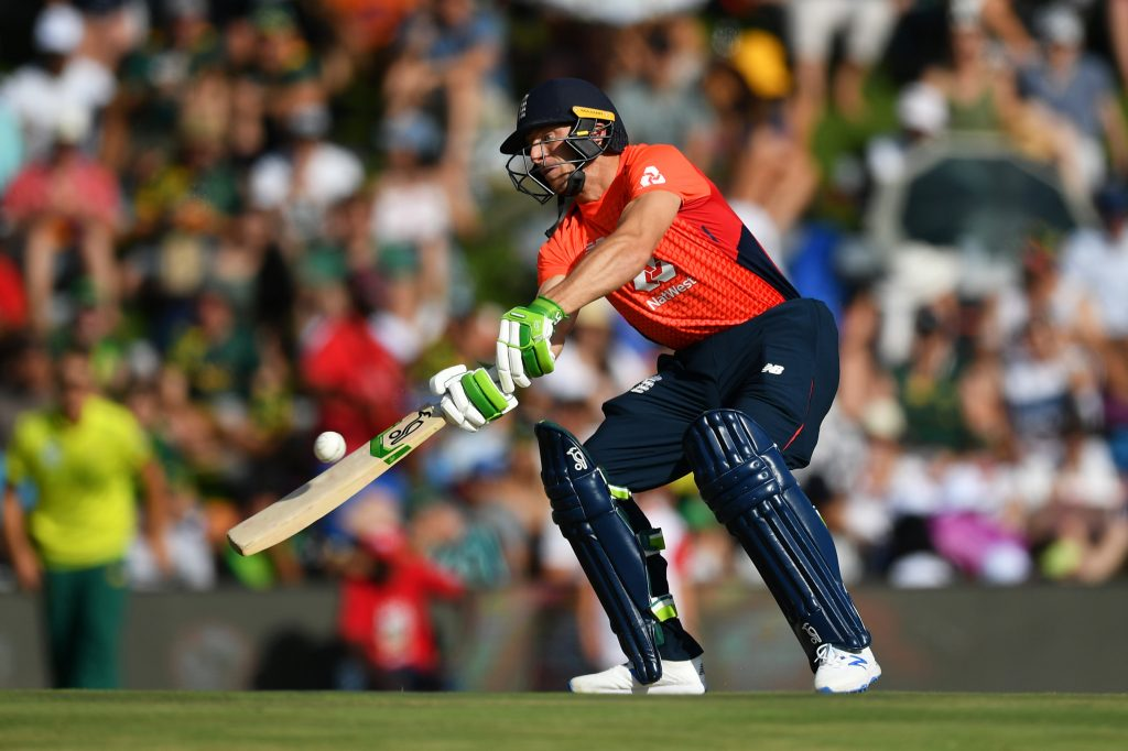 CENTURION, SOUTH AFRICA - FEBRUARY 16: Jos Buttler of England bats during the Third T20 International match between South Africa and England at Supersport Park on February 16, 2020 in Centurion, South Africa. (Photo by Dan Mullan/Getty Images)
