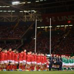 wales ireland six nations tickets packages 2021 CARDIFF, WALES - AUGUST 31: The two sides line up for the national anthems during the International Match between Wales and Ireland at the Principality Stadium on August 31, 2019 in Cardiff, Wales. (Photo by Harry Trump/Getty Images)