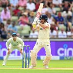 BIRMINGHAM, ENGLAND - JUNE 10: England batsman Rory Burns in batting action during day one of the second Test Match between England and New Zealand at Edgbaston on June 10, 2021 in Birmingham, England. (Photo by Clive Mason/Getty Images)
